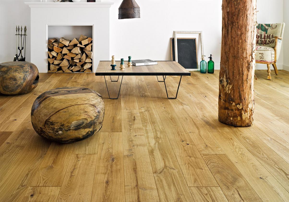 Необработанные деревянные полы